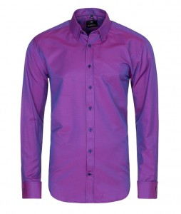 Salzburg Purple lux / mankiet zapinany na spinkę / slim fit