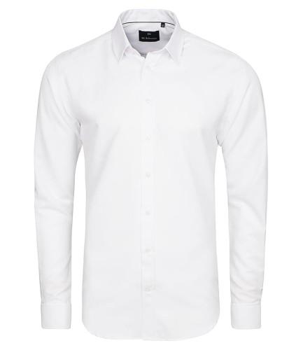 53fdcce2d5ca6 Koszula Salzburg White lux Biznesowa Ślubna Gładka Biała / mankiet zapinany  na spinkę / slim fit