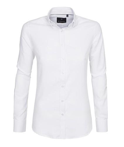 Aktualne Koszula damska biała elegancka dopasowana slim fit - Koszule MA78