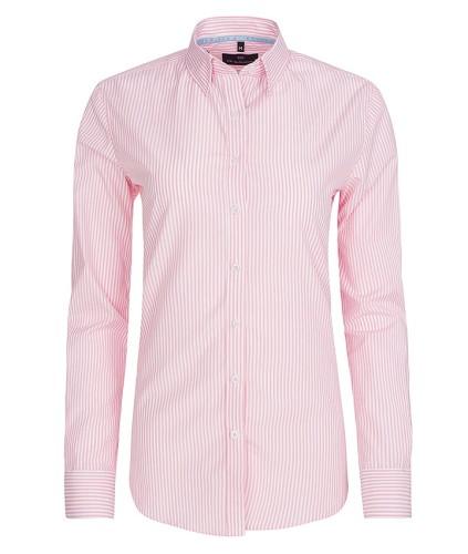Koszula damska różowa biała w paski dopasowana elegancka  rZP6c