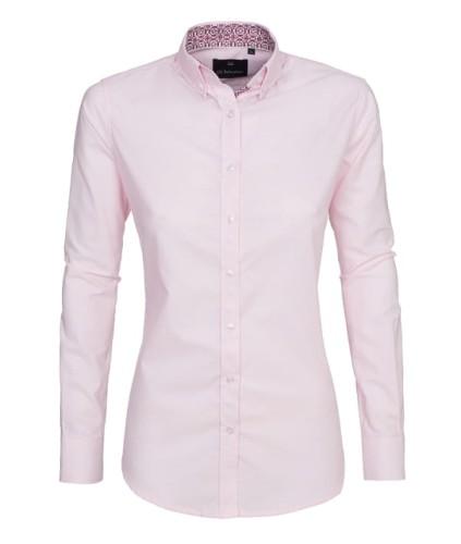 Nietypowy Okaz Koszula damska różowa elegancka dopasowana - Koszule damskie - aDi US29