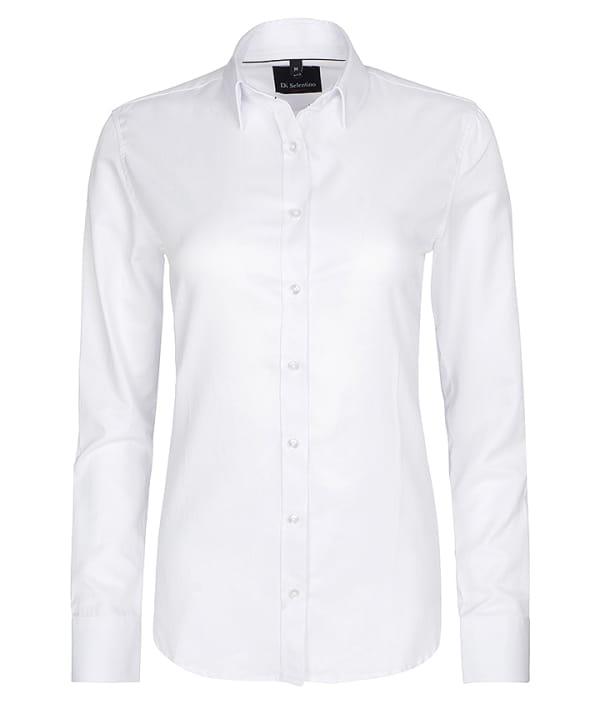 08bb15a747 Biała koszula damska 100% bawełna dopasowana slim fit - Koszule ...