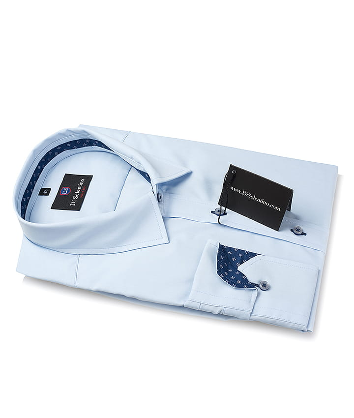 Błękitna koszula męska Katowice slim fit Di Selentino  KOzjo