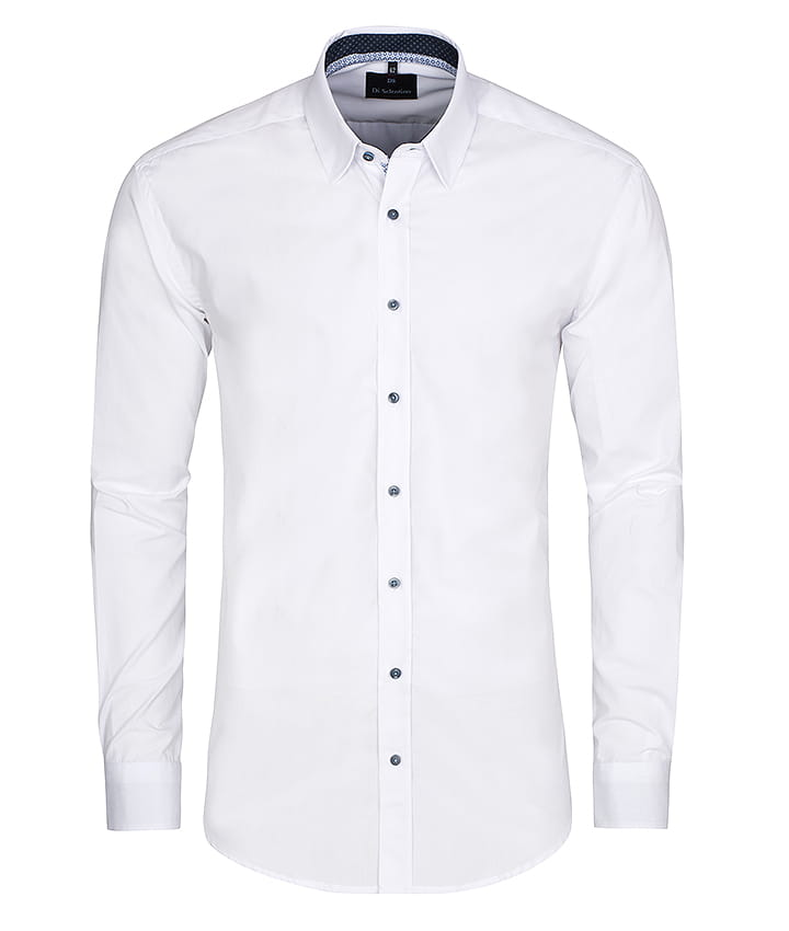 Biała koszula męska Kraków classic fit Di Selentino  aUxzL
