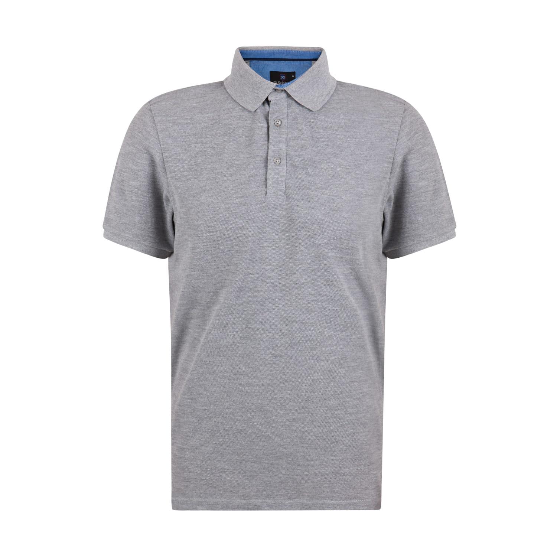 Koszulka polo męska Di Selentino szara