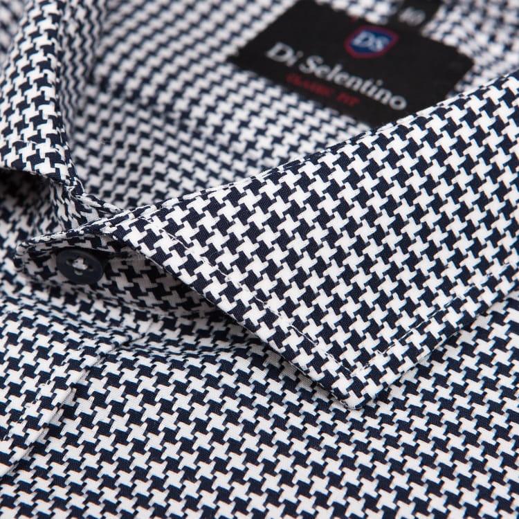 Koszula męska w czarną pepitkę classic fit Di Selentino  xGWRd