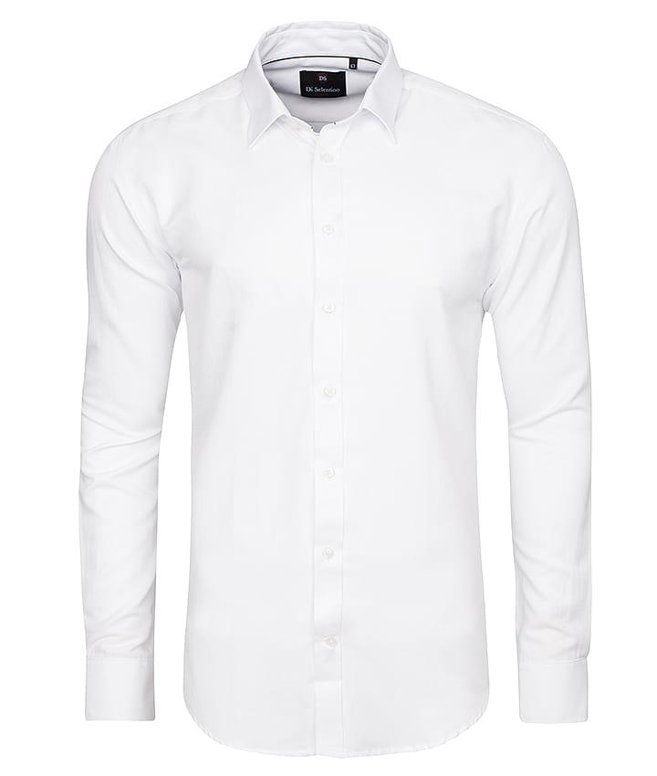 Koszula Salzburg White biała gładka slim fit Di  kj4xs